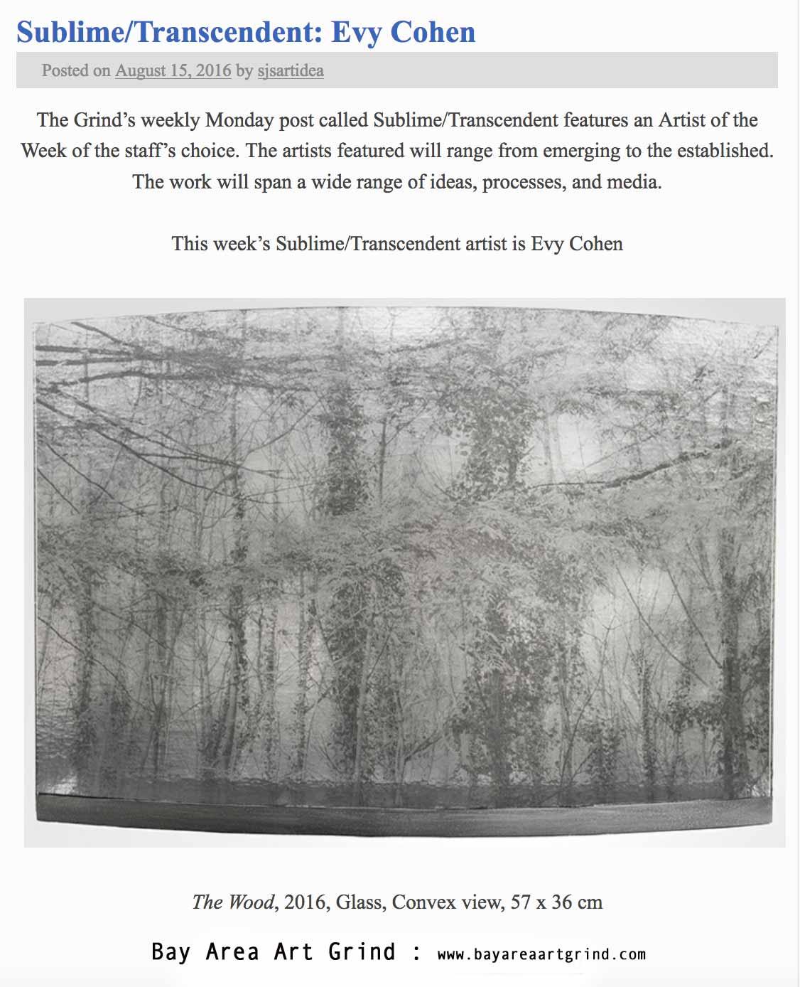 Press article Sublime-Transcendent