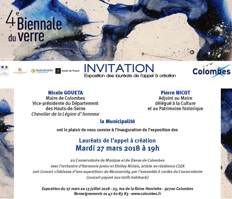Biennale du Verre de Colombes 2018